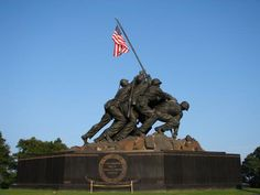 The Iwo Jima Memorial, also known as the U. S. Marine Corps War Memorial, honors the Marines who have died defending the United States since 1775. Description from hamptoninndumfriesquantico.blogspot.com. I searched for this on bing.com/images