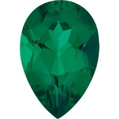 5x3mm Pear Faceted Chatham Created Emerald