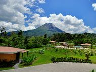 Hotel Arenal with views of the volcano. $65/night