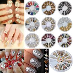 1Wheel Fashion 3D Glitter DIY Nail Art Tips Manicure Decoration Lots Style
