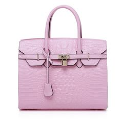 Wholesale Crocodile Effect Leather Tote Bags RLLH291 Pink