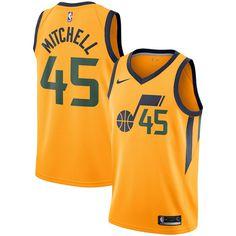2d0c6c60f Donovan Mitchell Utah Jazz Nike Replica Swingman Jersey - Statement Edition  – Yellow Donovan Mitchell