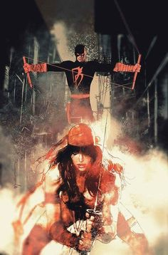 Bill Sienkiewicz-Daredevil cover original Comic Art