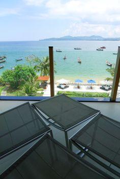 Beautiful view of Bangtao at the Beachfront Luxury Condo in Phuket, Thailand