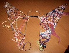 Vlinder van klerenhangers