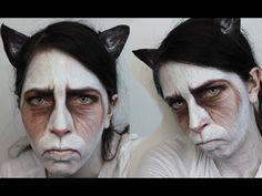 Got my Halloween costume ready.   Halloween Makeup: Grumpy Cat