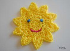 Ravelry: You Are My Sunshine crochet lovey pattern by Lorene Haythorn Eppolite- Crochet Appliques Au Crochet, Crochet Applique Patterns Free, Crochet Motifs, Crochet Stitches, Knitting Patterns, Free Pattern, Felt Patterns, Crochet Lovey, Crochet Amigurumi