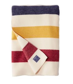 Bean Revival Stripe Blanket from Faribault Woolen Mills Wool Blanket, Hudson Bay Blanket, Heavy Blanket, Camping Blanket, Woolen Mills, Affordable Bedding, Bedroom Accessories, Stripes Fashion, Child Room