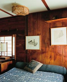 Boudoir, George Nakashima, Custom Fireplace, Japanese Interior, Maine House, Dream Bedroom, Renting A House, Decoration, Living Spaces