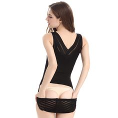 a7d40deb16a98 Movwin Womens Body Shaper High Waisted Seamless Tummy Control Shapewear  Sexy Open Bust Bodysuit 2XL Black