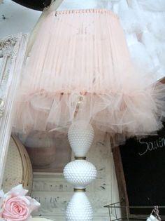 Sweet idea for a shabby lamp