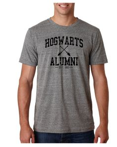 "Cool Harry Potter Shirt- ""Hogwarts Alumni""- Funny Shirt- Mens Shirt- Womens Shirt-Unisex Clothing"