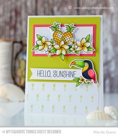 Handmade card from Wanda Guess featuring products from My Favorite Things #mftstamps
