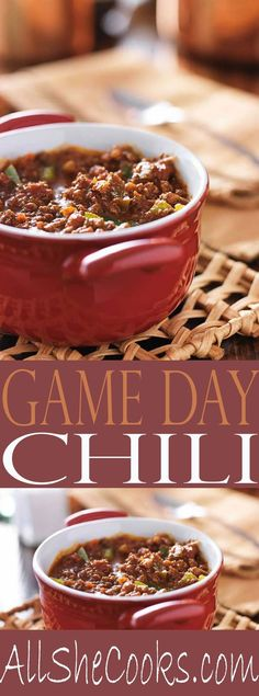 Game Day Chili- our