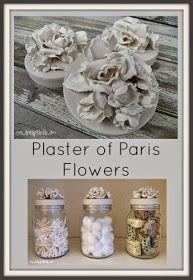 Artsy VaVa: Plaster Of Paris Flowers