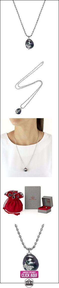 Samira 13 Collar de Mujer 14 k (585) Diamante Blanco Redondo Perlas De Tahiti/Perlas Negras 60.96cm  ✿ Joyas para hombres especiales - lujo ✿ ▬► Ver oferta: https://comprar.io/goto/B0148B9U7K