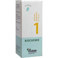 BIOCHEMIE Pflueger 1 Calcium fluoratum D 12 Tropfen:   Packungsinhalt: 100 ml Tropfen PZN: 06323684 Hersteller: A.Pflüger GmbH & Co. KG…
