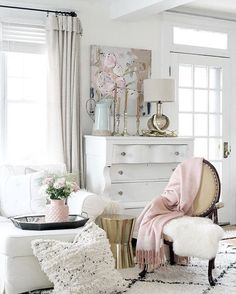"""Double tap if you agree that @thecultivatedhome's pastel dressing corner is the definition of """"sitting pretty""""! Share photos of your favorite @jossandmain pieces at jome with #jossfind to be featured in our feed. {Link in profile to shop}"""