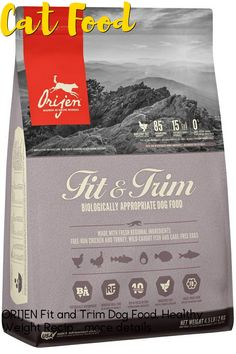 (This is an affiliate pin) Size:4.5 lbHelp your dog thrive and maintain a healthy weight with ORIJENs Biologically Appropriate Fit & Trim dog food. Optimized to limit calories and support lean muscle mass, this nutrient-rich dog food features protein sourced from free-run poultry, wild-caught fish, and cage-free eggs, plus a unique blend of fiber from pumpkin, apples, and squash. Whole animal proteins make up 85% of the ingredient list, with the remaining 15% coming from vegetables and…