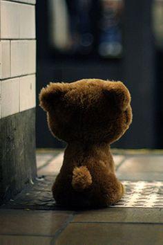 Alone Teddy Bear Wallpaper Bears Neddle Felted Animals On Pinterest