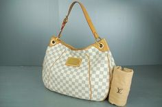 Louis Vuitton Azur Damier Galleria Shoulder Bag. Get one of the hottest styles of the season! The Louis Vuitton Azur Damier Galleria Shoulder Bag is a top 10 member favorite on Tradesy. Save on yours before they're sold out!