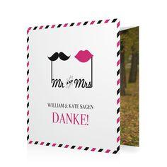 Dankeskarte Mr & Mrs in Hibiskuspink - Doppelklappkarte quadratisch, gewickelt #Hochzeit #Hochzeitskarten #Danksagung https://www.goldbek.de/hochzeit/hochzeitskarten/danksagung/dankeskarte-mr-und-mrs?color=hibiskuspink&design=bb59c