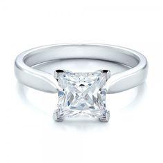 Contemporary Solitaire Princess Cut Diamond Engagement Ring
