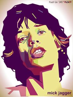 Mick Jagger WPAP Rock Posters, Concert Posters, Rock And Roll Bands, Rock N Roll, Cuadros Pop Art, Monochromatic Art, Pop Art Portraits, Draw On Photos, Keith Richards