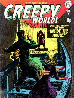 Alan Class Comics' Creepy Worlds.  #AlanClass #CreepyWorlds