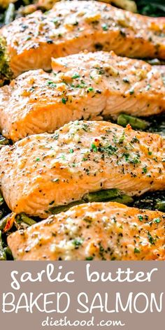 Delicious Salmon Recipes, Baked Salmon Recipes, Fish Recipes, Lunch Recipes, Seafood Recipes, Healthy Dinner Recipes, Cooking Recipes, Baked Salmon Easy, Salmon Low Carb Recipes