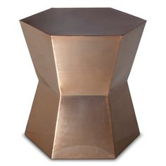 Threshold™ Hexagon Accent Table - Copper - seen here: http://stylebyemilyhenderson.com/blog/bold-styling-with-safe-neutrals-and-target