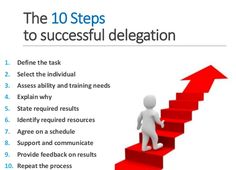 A great tip for businesses: Learn how to delegate!