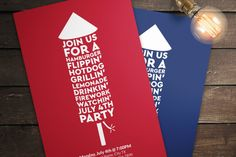 July 4th Invitations By Designs by Justin Lynch