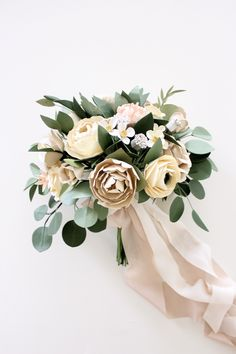 Paper Flower Bridal Bouquet — Handmade by Sara Kim