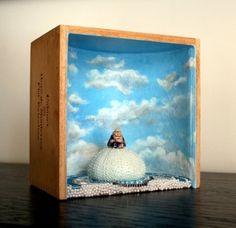 Shadow+Box+Art+BUDDHA+BOX+Original+Mixed+Media+by+workingwoman