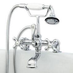 wall mount clawfoot tub faucet handheld shower. Cambridge  Clawfoot Tub Deck Mount Brass Faucet with Hand Held Shower Wall British Telephone w