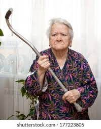 Old Angry Woman Threatening Cane Home Stock Photo (Edit Now) 177223805 Grandma Memes, Angry Women, Having No Friends, Aging Parents, Old Age, Great Stories, Be The Boss, Reaction Pictures, Haha Funny