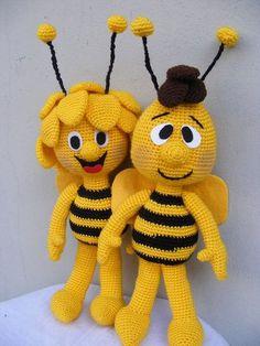 New Amigurumi Ideas. All Beautiful And Cute - Page 7 of 23 - Best Amigurumi Crochet Bee, Crochet Crafts, Crochet Dolls, Crochet Projects, Crochet Toys Patterns, Amigurumi Patterns, Stuffed Toys Patterns, Amigurumi Doll, Crochet Disney