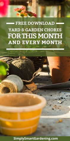Confused about what you need to do in your garden this month? Download a free yard