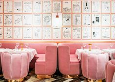 the fabulously pink sketch gallery restaurant in london | via coco kelley