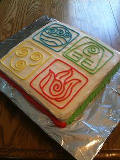Avatar/Last Airbender birthday cake.