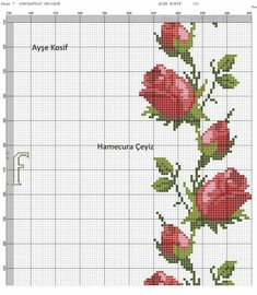 Cross Stitch Tree, Cross Stitch Flowers, Cross Stitch Patterns, Brazilian Embroidery, Cross Stitching, Flower Patterns, Needlepoint, Hand Embroidery, Needlework