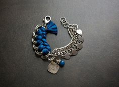 Ethnic Multi Chain Braided Bracelet with Kutchi Coin by BevaStyles, $38.00