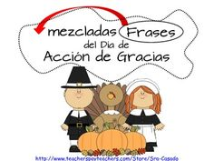 fun activity for Thanksgiving, Language Arts.  100% in Spanish.  Early Elementary. $