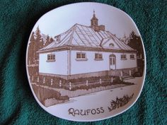 Vintage Collectable Wall Plate RAUFOSS FIGGJO Norway advertisement #1
