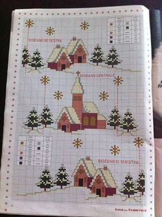 16 Ideas For Crochet Christmas Cards Cross Stitch Cross Stitch Christmas Cards, Xmas Cross Stitch, Christmas Cross, Cross Stitching, Cross Stitch Embroidery, Crochet Christmas, Cross Stitch House, Cross Stitch Charts, Cross Stitch Designs