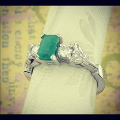 My favorite Emerald Engagement Ring