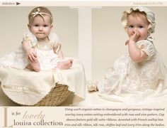 Louisa Romper Dress at Baby Beau and Belle...adorable clothes!!!  Such an adorable little model!!!