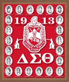 Delta Sigma Theta Founders Acrylic Topped Wooden Wall Plaque [Brown - 12 x