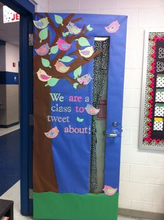 Just covered my classroom door for spring not that i tweet...but this is cute...and my classroom is all the rage this year...bahaha